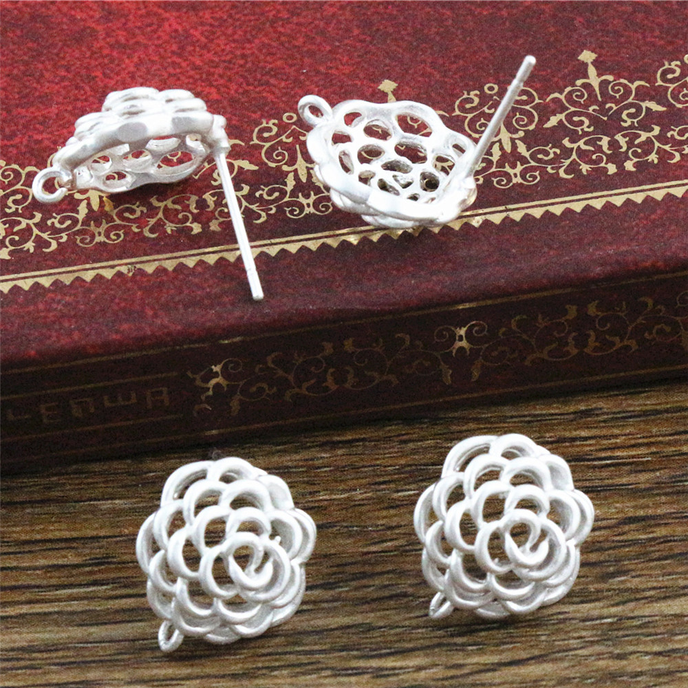 4pcs ( 2pair) 12x11mm Matte Silver Plated Ear Hooks Earring Wires For Handmade Women Fashion Jewelry Earrings (L2-17)