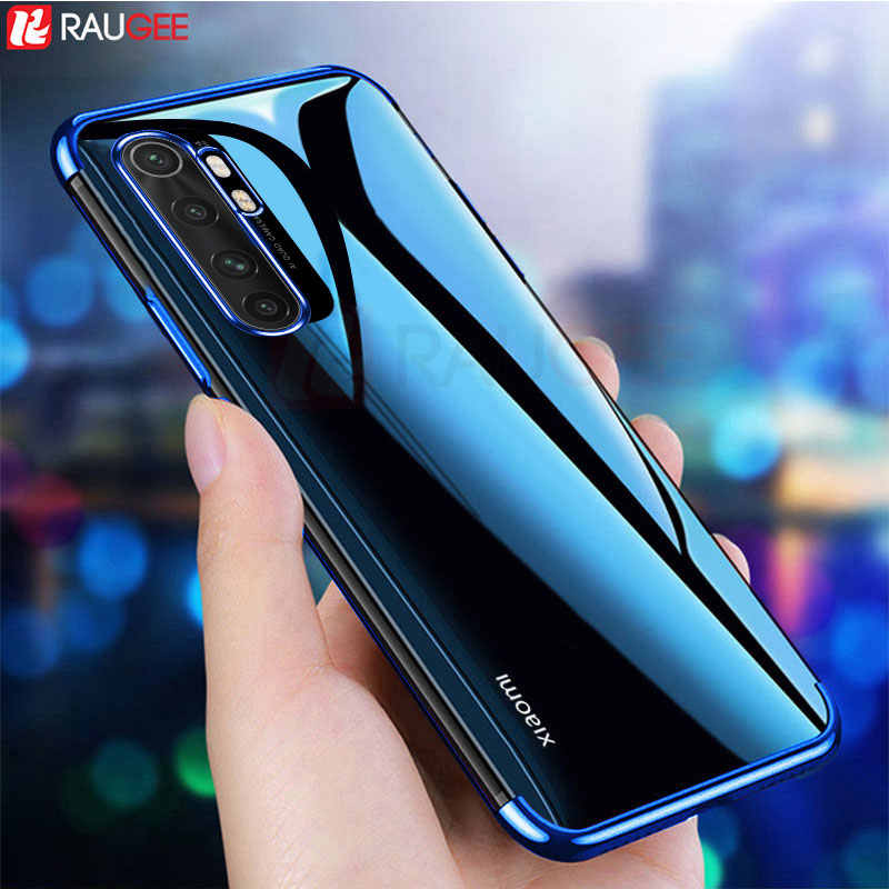 Telefoon Case Voor Xiaomi Mi Note 10 Lite Case Luxe Bumper Silicon Back Clear Cover Case Voor Xiaomi Note 10 lite Global Case 6.47'