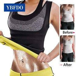 YBFDO размера плюс S-6XL для женщин неопрен Пот Сауна тела формирователь жилет талии тренажер для похудения жилет Корректирующее белье потеря в...
