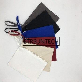 30pcs/lot White/Black Cotton Canvas bag for ipad Canvas zipper bag Cotton Clutch Bag make up pouch 28cmx20cm