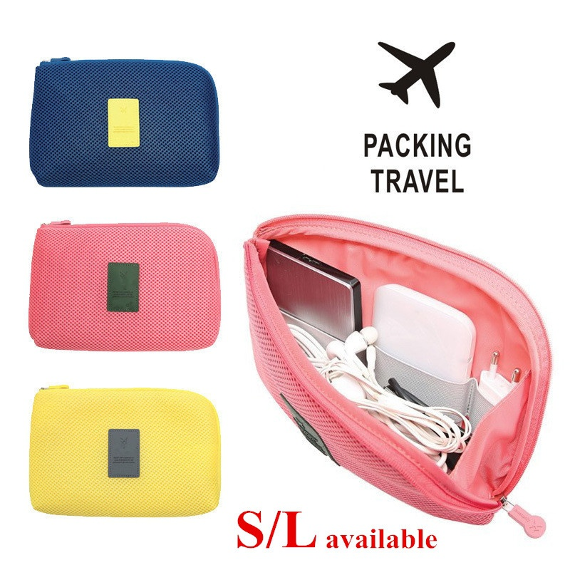 Portable Storage Bag Digital Gadget USB Cable Earphone Pen Travel Bags Cosmetic Makeup Case New Arrival