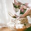 Ручная работа Бохо Декор макраме кисточка плетеная корзина сад цветочный горшок кабинет плетеная корзина для хранения Домашний Органайзер...