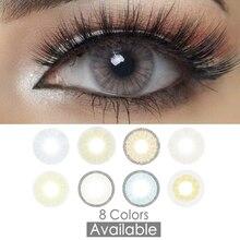 Цветные контактные линзы 14,2 мм серого цвета