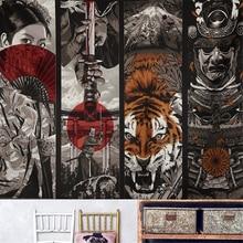 Japanese Style Samurai Sword Japanese Geisha Tiger Tapestry Wall Hanging Dorm Decor Large Wall Tapestry Picnic Beach Blanket