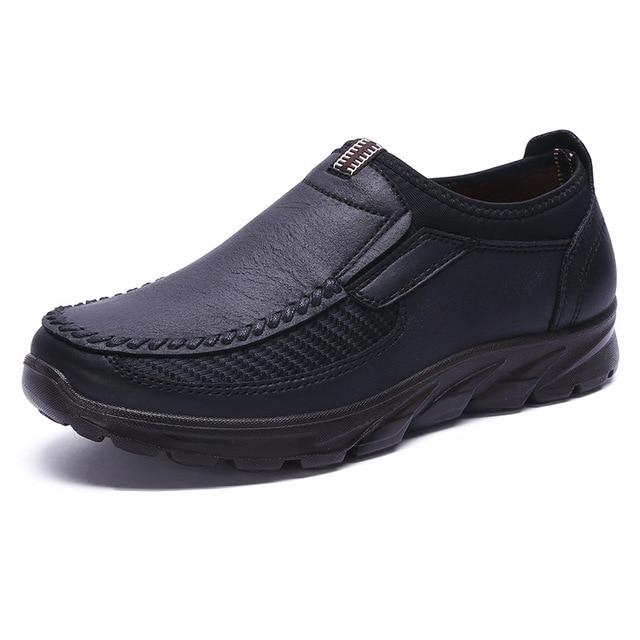 מכירה לוהטת חורף נעלי גברים להחליק על לנשימה רך עם סוליות אופנה מזדמן אור שטוח Mens ופרס יוקרה מותג דירות זכר נעל 48