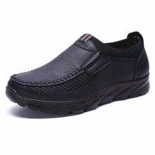 Sıcak satış kış ayakkabı erkekler Slip On nefes yumuşak tabanlı moda rahat açık düz erkek loaferlar lüks marka daireler erkek ayakkabı 48