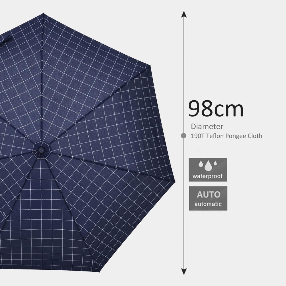 Tiohoh Woman Umbrella Clear Windproof Fully Automatic Folding Umbrella Rain Women Paid Style Guarda Chuva 7 Ribs Golf Umbrellas in Umbrellas from Home Garden