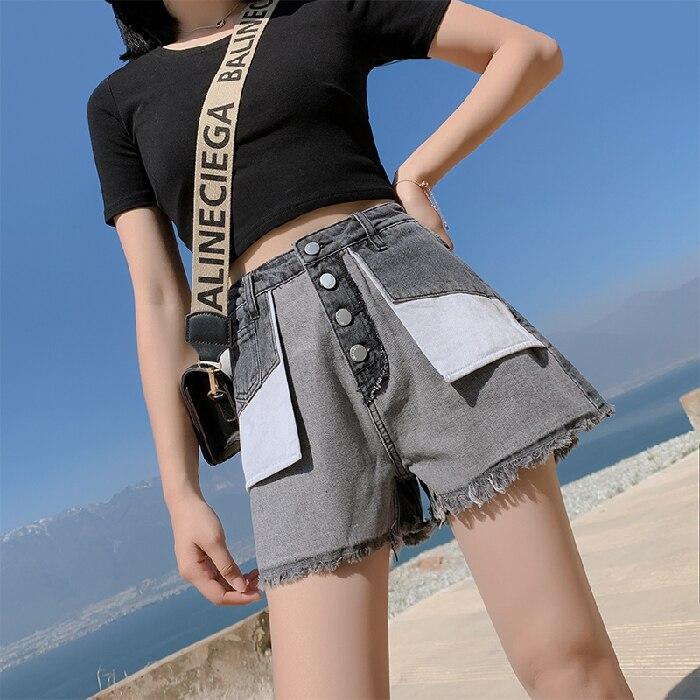 Blue Denim Short Jeans Feminino New Jean Women Wide Leg Summer Women Highwaisted Jeans Woman Plus Size Loose Casual 1
