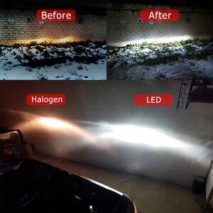 Image 4 - Cnsunnylightスリムcsp led車のヘッドライトの球根H4 H7 H11/H8 H1 9005 9006 H13 9004 H27 H3 42 ワット 7000Lm 5500 18k自動ヘッドランプフォグランプ