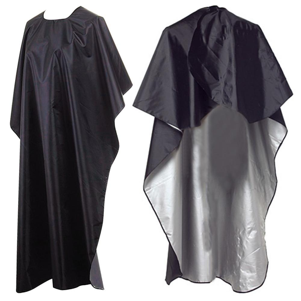 Professional Cutting Hair Waterproof Cloth Black Large Size Beauty Salon Hairdressing Barbers Hairdresser Gown Cape