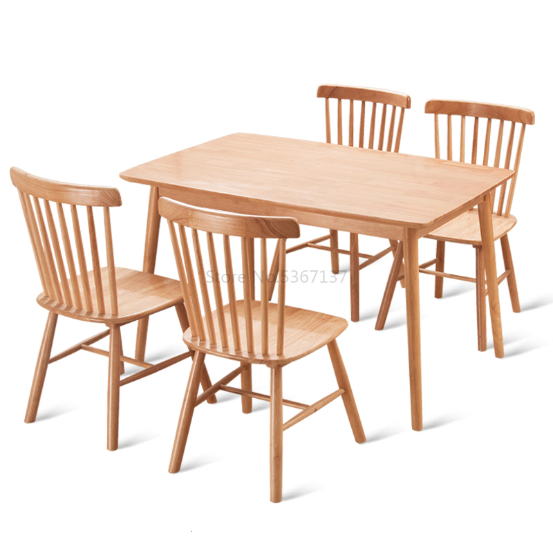 Chair Nordic Wood Dining Chair Home Back Chair American Modern Simple Restaurant Restaurant Cafe Chair