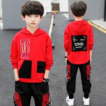 spring autumn kids cotton clothes sets Boys' Leisure Suit Coat + Boys' pants Sportswear Students Trousers 1