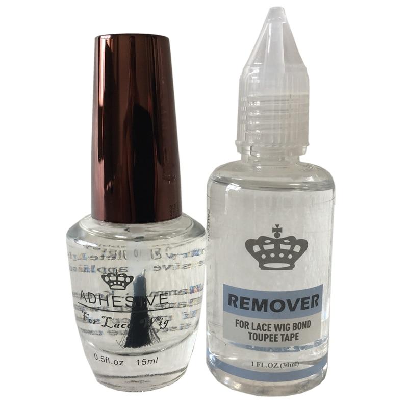 ALI shop ...  ... 32351952976 ... 2 ... Glue remover kit 0.5 Oz 15 ml lace wig glue bond transparent adhesive glue for full lace wig  men's toupee ...