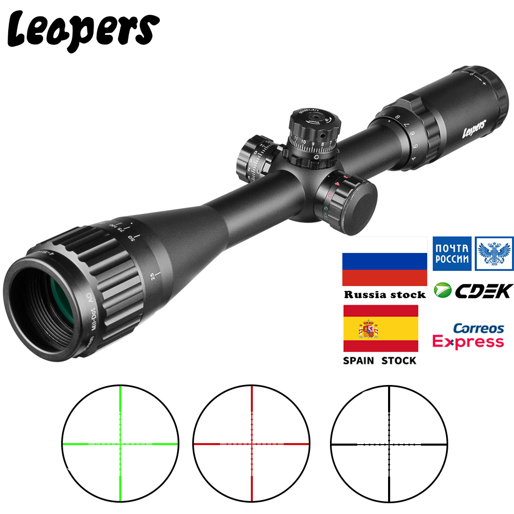 LEAPERS Tactical 4-16X40 Riflescope Optical Rifle Scope Red Green Mil-Dot Sight Illuminated Retical Sight For Hunting Scope