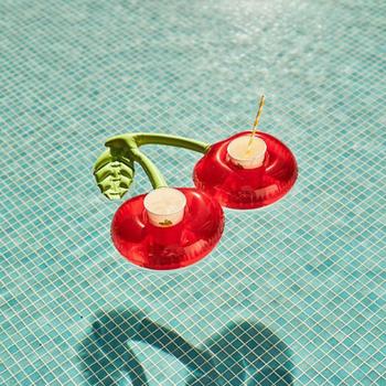 Nadmuchiwany uchwyt na kubek impreza przy basenie Float uchwyt na napoje pływanie pływający w basenie do chłodzenia piwa zabawka basenowa party Decor pływające podstawki barowe tanie i dobre opinie Byfa WOMEN Swimming Ring Inflatable Cherry Drink Pool Float Toys Inflatable Cup Holder Swimming pool toys inflatable cup holder for pool