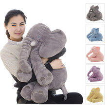 40/60cm Höhe Große Plüsch Elefant Puppe Spielzeug Kinder Schlafen Zurück Kissen Nette Ausgestopften Elefanten Baby Begleiten Puppe weihnachten Geschenk