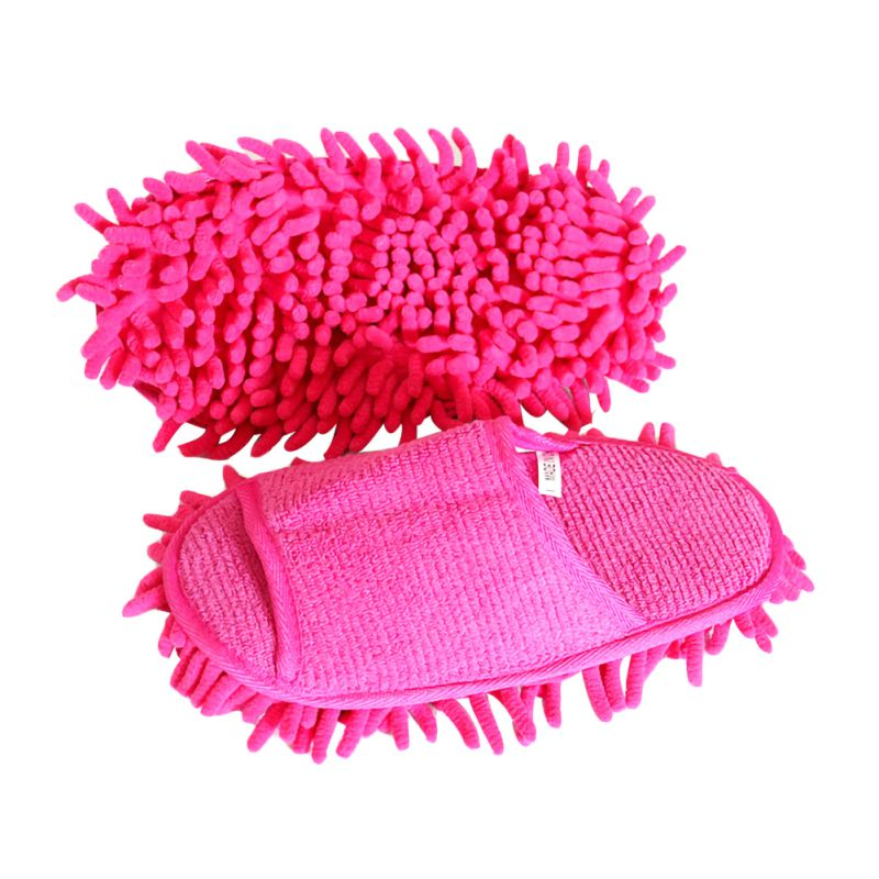 1Pair Lazy Cleaning Foot Cleaner Shoe Cover Dust Mop Slipper Polar Fleece House Floor Cleaning Sweeping Slippers Supplies|Dusters|Home & Garden - title=