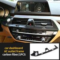 Ac Vent Cover Molding Trim Dashboard Voor Bmw Carbon Fiber 2018-2019 1 Pc 6 Serie Gt