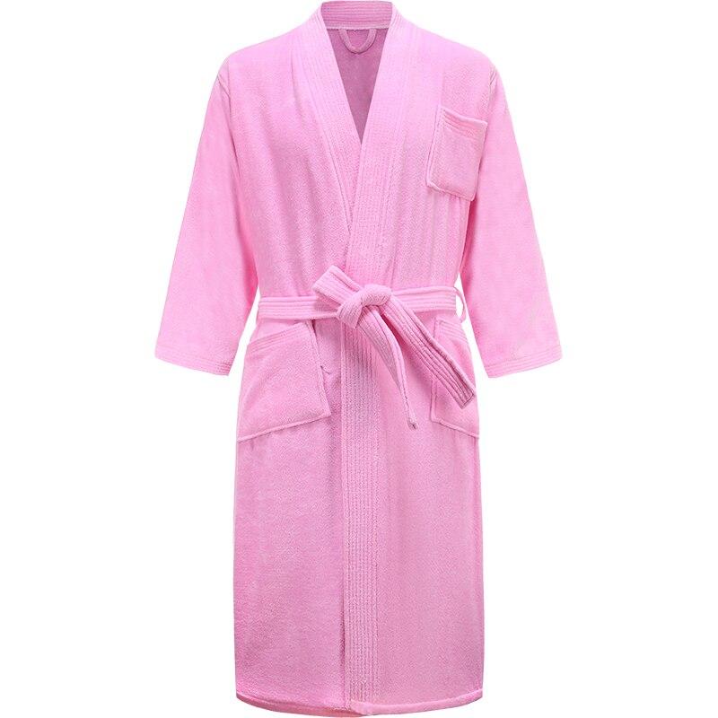 Women Star Hotel 100% Cotton Towel Bathrobe Plus Size Winter Warm Kimono Bath Robes Bride Long Terry Dressing Gown Men Sleepwear(China)
