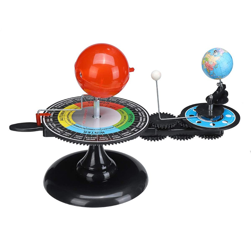 Solar System Model DIY Globe Earth Sun Moon Orbital Planetarium Educational for Child Kid Toy Astronomy Science Kit Teaching (2)