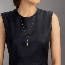 925 prata esterlina pingente vertical com 3 zircão jóias finas para mãe mulher messika colar venda quente famosa marca frança