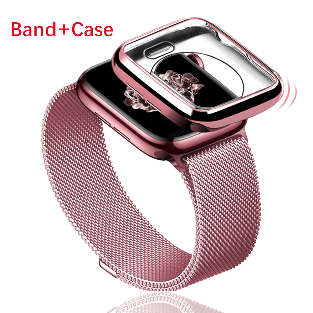 Milanese Loop Band For Apple Watch Series 5 4 44mm 40mm Bracelet Strap Magnetic Buckle With Wristband For Iwatch 321 38mm 42mm