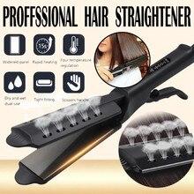 Бигуди для волос 2019Top четырехзубчатый керамический турмалин ионный плоский утюжок выпрямитель для волос для женщин бигуди