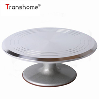 Transhome Cake Turntable Stand 12 Inch Aluminum Alloy Cake Turntable Christmas Birthday Cake Stand Home Baking Tools For Cakes