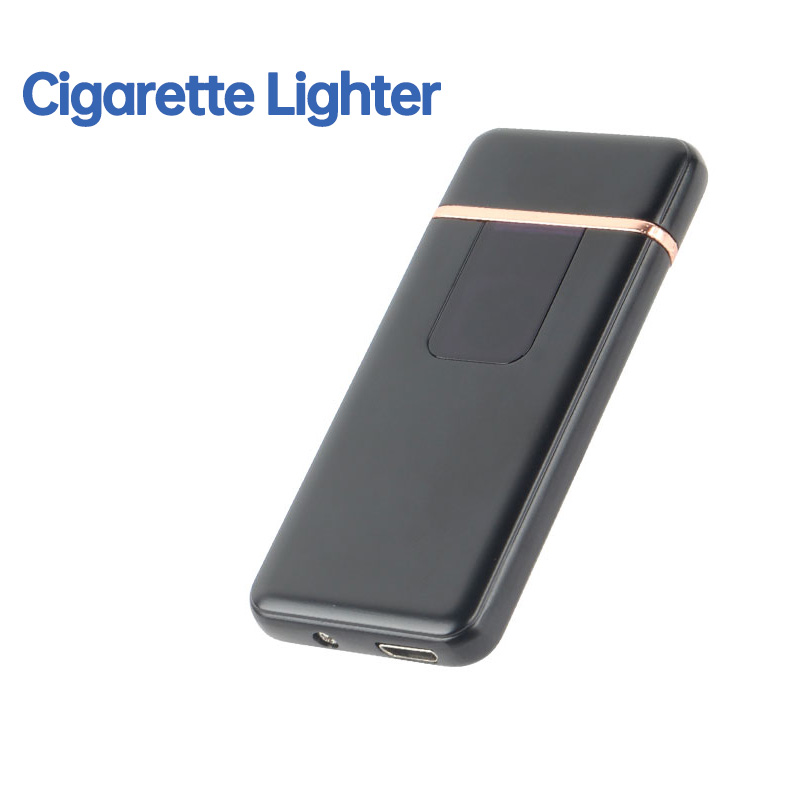 Creative Touch Induction Lighter For Smoking Ultra-thin Windproof Electronic USB  Rechargeable Cigarette Lighter Dropshipping