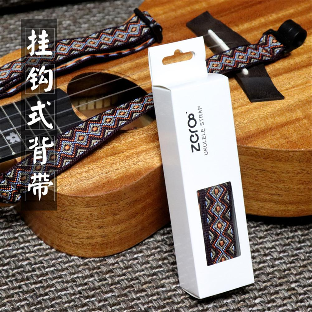 B-002 National Style Adjustable Guitar Strap Length Universal Sling With Hook For  Acoustic Ukulele Electric Guitar Accessories