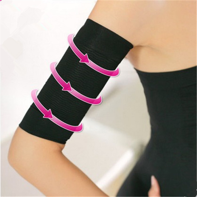 1Pair Slimming Compression Arm Shaper Slimming Arm Belt Tone Shape Upper Arms Sleeve Shape Taping Massage Women Slim