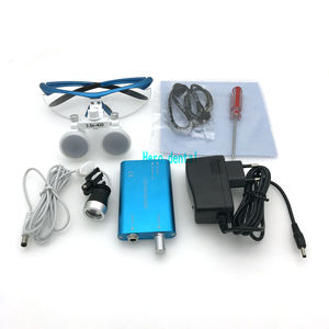 Image 1 - CE Passed Dental Loupes With Light 3.5X420mm Surgical Binocular Glasses Magnifier with LED Headlight