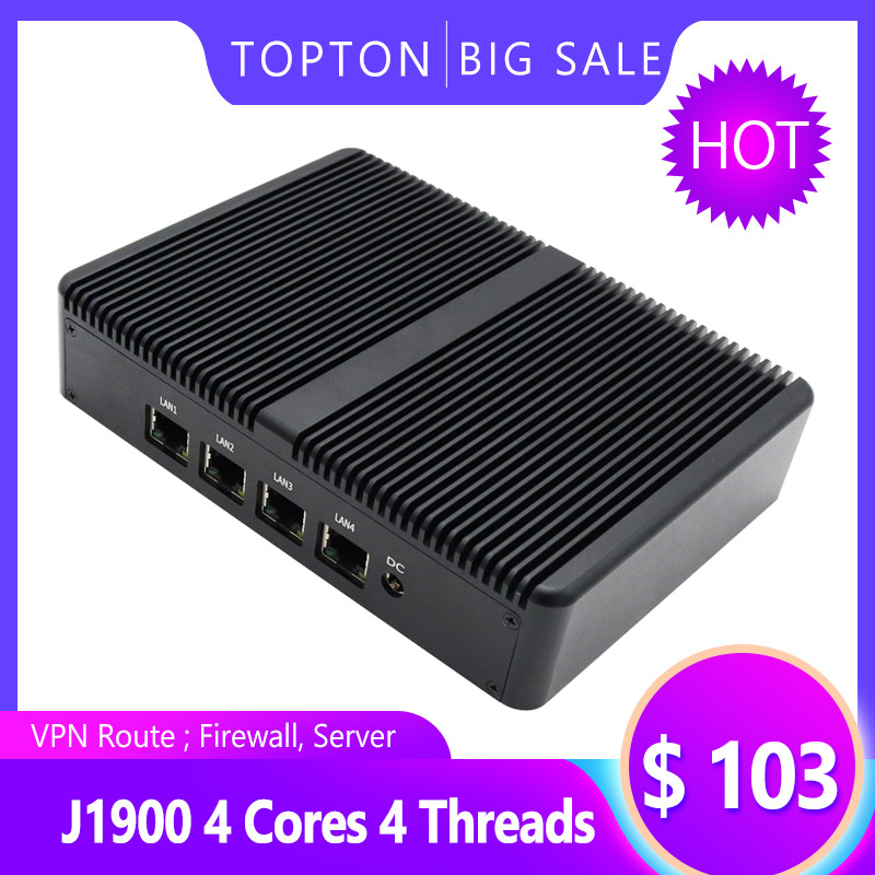 PfSense PC With 8GB RAM 64GB SSD, 4 Intel LAN Port, VGA, 3 USB Port,Celeron J1900 VPN Router Quad Core 2 GHz Mini PC Server