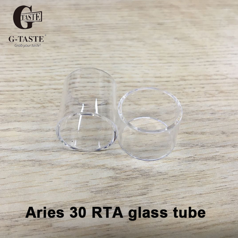 3pcs G-taste Pyrex Pure Replacement Glass Tube For Aries 30 RTA Tank Atomizer Glass Tube 6ml/10ml