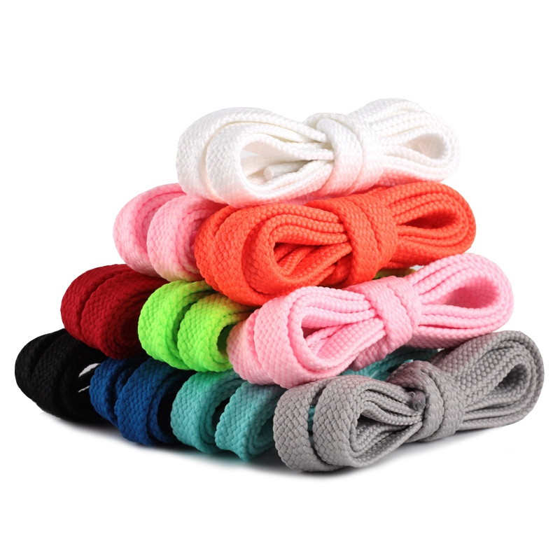 1 Pair Flat Shoe Laces Double Hollow Woven Off White Shoelaces 100CM/120CM/140CM/160CM Outdoor Leisure Shoelace 26 Colors