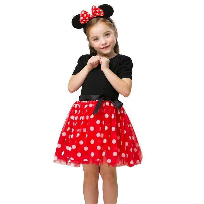 Lạ Mắt Phục Sinh Hóa Chuột Minnie Đầm Cho Bé Gái Halloween Tuyết Trắng Trang Phục Cho Bé Gái Repunzel Đầm Công Chúa Trẻ Em Khi Mặc
