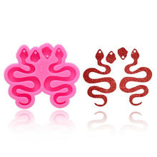 Resin Mold Earring Snake Handmade Keychain Jewelry-Accessories DIY Silicone Pendant Necklace