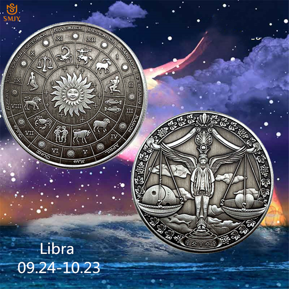 2019 Bronze Constellation Souvenir Venus Libra Western Astrology Embossed Collectible Coin Value Gift