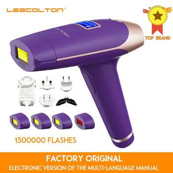 Lescolton 1300000 times 5in1 IPL Epilator permanent Hair Removal With LCD Display Machine Laser For Boay Bikini Face Underarm - DISCOUNT ITEM  53 OFF Home Appliances