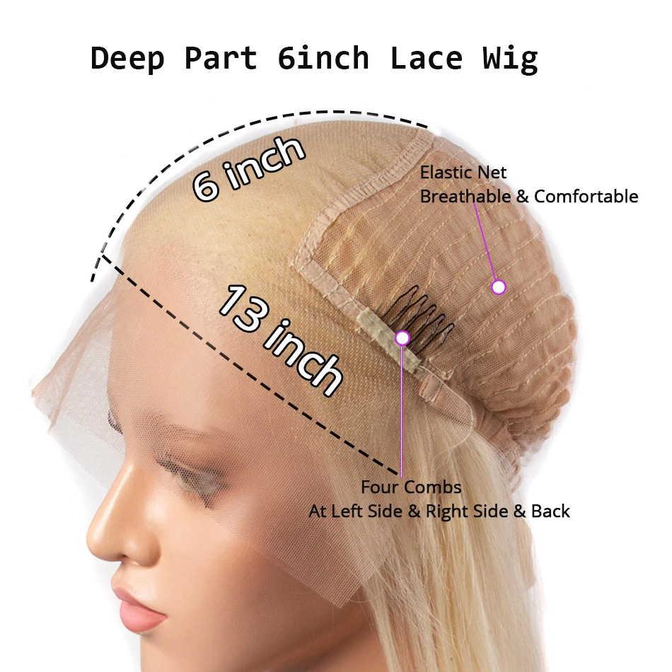 Perruque Body Wave Wig brésilienne 613 Remy-Virgo | Perruques Lace Front Wig, cheveux naturels, Transparent HD, 13X6, densité 150%, pour femmes noires