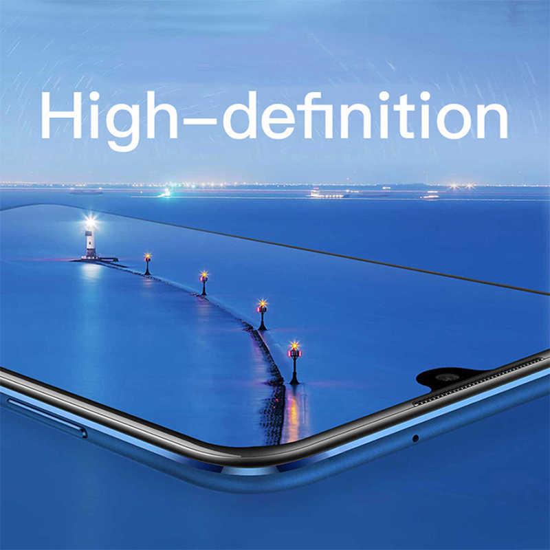 Kaca untuk Xiaomi Mi 9 T PRO 9 Se 8 Lite 6 F1 Bermain Screen Protector Pada Pocophone F1 Tempered Pelindung kaca Full Lem Cover Film