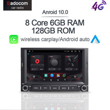 Autoradio Carplay Android 10.0, 6 go/128 go, DSP, 4G LTE, GPS, lecteur DVD, pour voiture PEUGEOT 3008, 5008, Partner, citroën Berlingo (2010-2016)