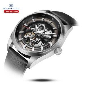 Image 2 - Seagull zegarek męski biznes Hollow Luminous wodoodporny automatyczny zegarek mechaniczny zegarek męski mechanik 819.92.6076H
