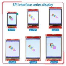 Spi seriesctouch porta serial 2.2/2.4/2.8/3.2/3.5/4.0/polegada tft lcd módulo de tela para placa de desenvolvimento stm32