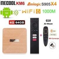 Mecool KM6 deluxe Amlogic S905X4 Android 10 TV BOX G0gle TVBOX certificato 4GB 64GB supporto Wifi6 AV1 BT5.0 4K Set Top Box 2G 16G