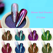 1g/box Chameleon Nail Powder Magic Mirror Effect Solid Chrome Powder Pigment Dust Shining Nail Art Decoration Auroras Dust wsryxxsc chameleon nail magic mirror pigment powder chrome flash powder manicure diy