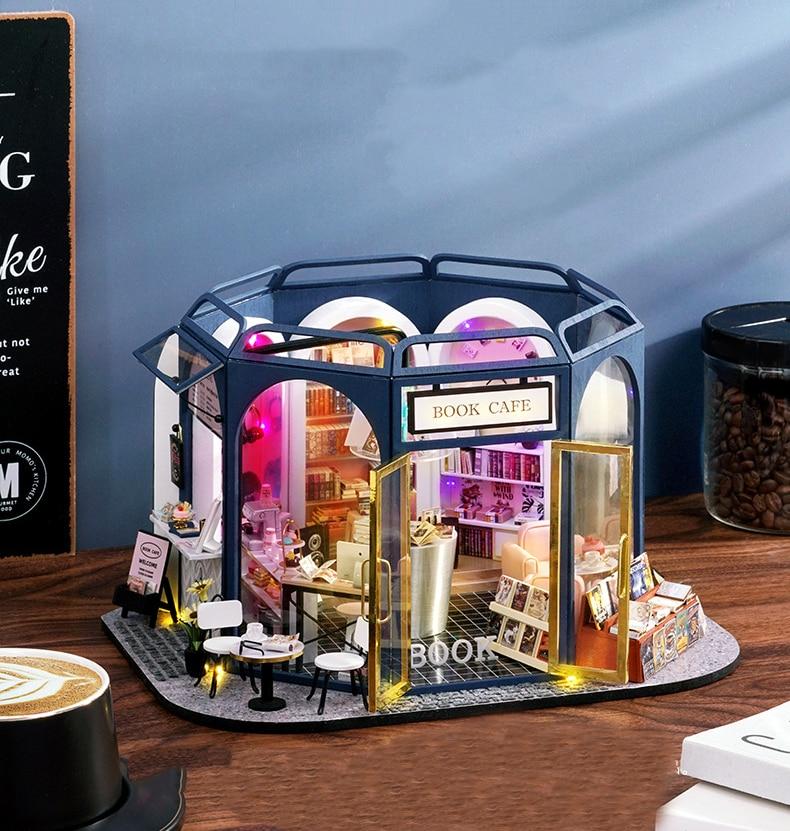 Book Cafe DIY Miniature House Kit