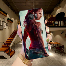 Soft Silicone Phone Case For Samsung S6 S7 Edge S8 S9 S10 PLUS NOTE 8 9 M10 20 30 Back Cover Tomb raider adventure(China)