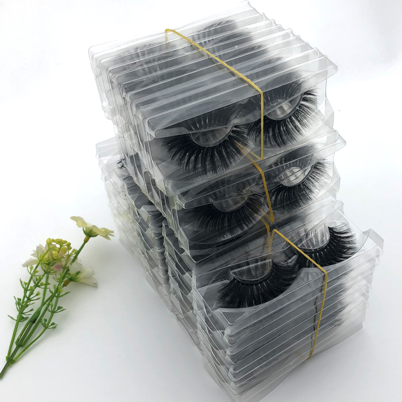 Wholesale Eyelashes 20/30 Pairs 3d Mink Lashes Custom Sign False Eyelash Makeup Mink Eyelashes Extension