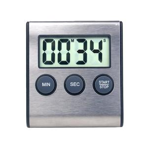 1pc Durable Digital Timer Minute Second Timer Digital Timer Stainless Steel Timer for Gym Cooking(China)